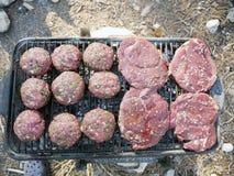 Grillfest för en picknick Royaltyfri Foto