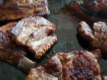 Grillfest för grisköttkött Royaltyfri Foto