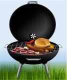 Grillfest - grilla för yttersida Arkivfoto