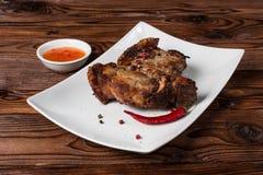 grillfest grillad pork Fotografering för Bildbyråer