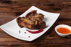grillfest grillad pork Arkivbild