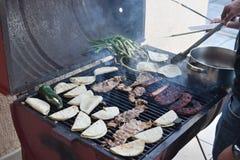 Grillfest i Mexico Arkivfoton
