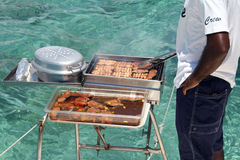 Grillfest Mauritius royaltyfri bild