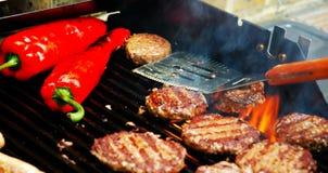 grillfest som sizzling sommar Royaltyfri Fotografi