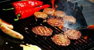 grillfest som sizzling sommar Fotografering för Bildbyråer