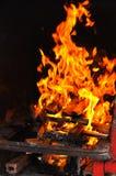 grillfestbrand Arkivfoton