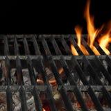 Grillfestbrandgaller som isoleras på den svarta bakgrunden, närbild Royaltyfri Fotografi