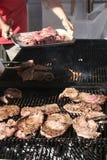 grillfestdeltagare Arkivbild