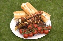 grillfesten grillade meat Fotografering för Bildbyråer