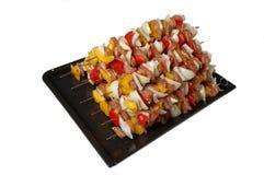 grillfesten som lagar mat rått klart, spottar Royaltyfri Bild