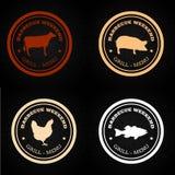 grillfester stock illustrationer