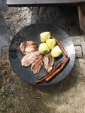 grillfester Arkivfoto