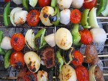 grillfestkabobs Fotografering för Bildbyråer