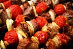 grillfestkebabshish Arkivfoto