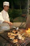 grillfestmatställe Fotografering för Bildbyråer
