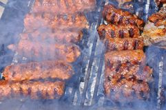 grillfestmeat Arkivfoto