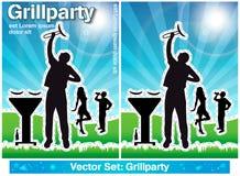 Grillfestparti Fotografering för Bildbyråer