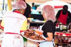 Grillfestparti i Abidjan Arkivbild
