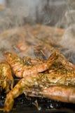 grillfestplattaräkor Royaltyfri Foto