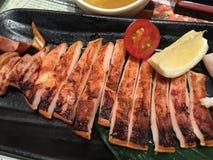 Grillfesttioarmad bläckfisk Royaltyfria Foton