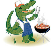 Grillin Country Gator Royalty Free Stock Image