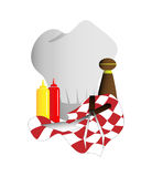 Grillin supplies Royalty Free Stock Photography