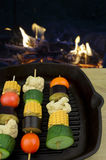 Grillin veggies on the table Stock Image