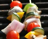 Grilling A Kabob Stock Image