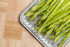 Grilling asparagus vegetable Royalty Free Stock Image