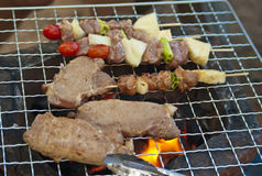 Grilling barbecue Royalty Free Stock Photos