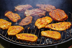 Grilling on a barbecue Stock Photography