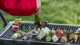 Grilling Barbie Q. Grilling Barbecue in a good day Royalty Free Stock Image