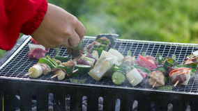 Grilling Barbie Q. Grilling Barbecue in a good day Royalty Free Stock Images
