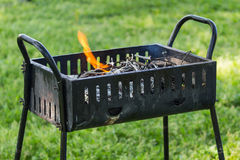 Grilling Barbie Q. Grilling Barbecue in a good day Royalty Free Stock Photos