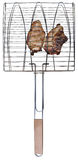 Grilling basket with chicken meet Royalty Free Stock Images