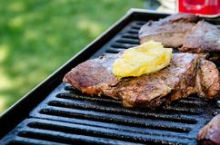Grilling Beef, bbq set Royalty Free Stock Photography