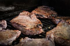 Grilling Beef, bbq Stock Photography