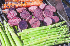 Grilling beetroots stock images