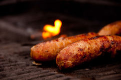 Grilling Brats Stock Photos