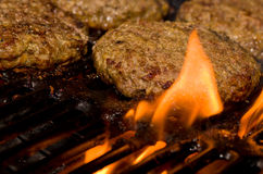 Grilling Burgers Royalty Free Stock Photo