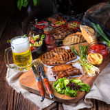 Grilling  fiesta. A fresch and tasty grilling  fiesta Stock Photos