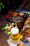 Grilling  fiesta. A fresch and tasty grilling  fiesta Royalty Free Stock Photos