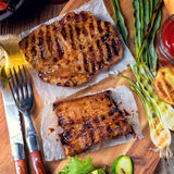 Grilling  fiesta. A fresch and tasty grilling  fiesta Royalty Free Stock Images