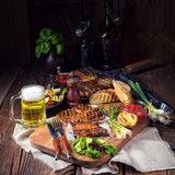Grilling  fiesta. A fresh and tasty grilling  fiesta Royalty Free Stock Photography