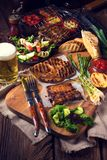 Grilling  fiesta. A fresh and tasty grilling  fiesta Stock Images
