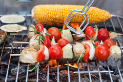 Grilling food Royalty Free Stock Image