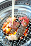 Grilling Fresh meat Royalty Free Stock Images