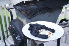 Grilling Gone Bad Stock Photo