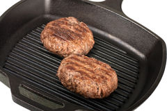 Grilling Hamburgers Royalty Free Stock Photography