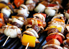 Grilling Kaboobs Royalty Free Stock Photography